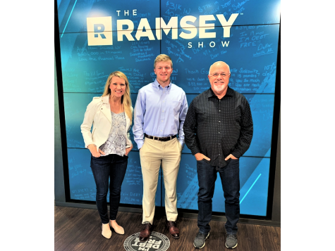 Dustin Burkhart with Dave Ramsey & Christy Wright